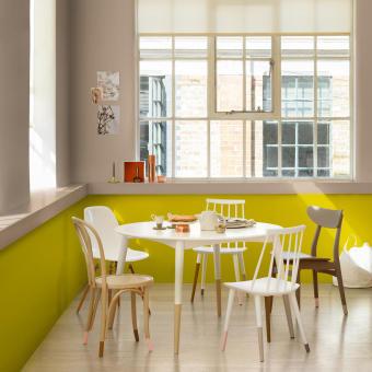 trend 2015 limegrön vägg matsal grå