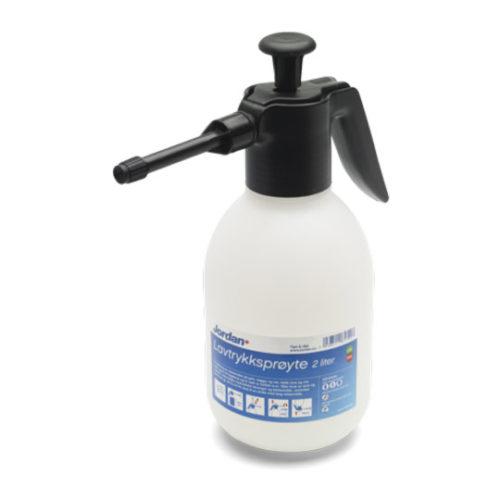 Jordan lavtrykksprøyte 2 liter på hvit bakgrunn